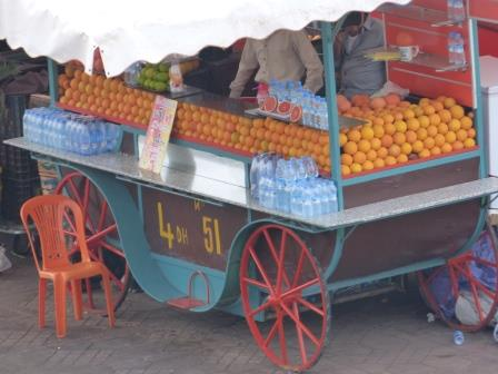 Jeema El Fna Square - orange juice stall